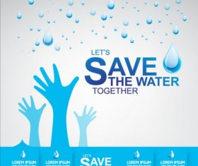 Now save water publicity template design 03