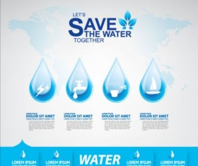 Now save water publicity template design 04
