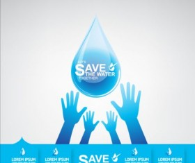 Now save water publicity template design 06