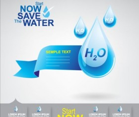 Now save water publicity template design 09