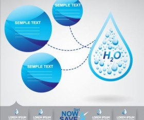 Now save water publicity template design 10