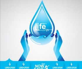 Now save water publicity template design 16