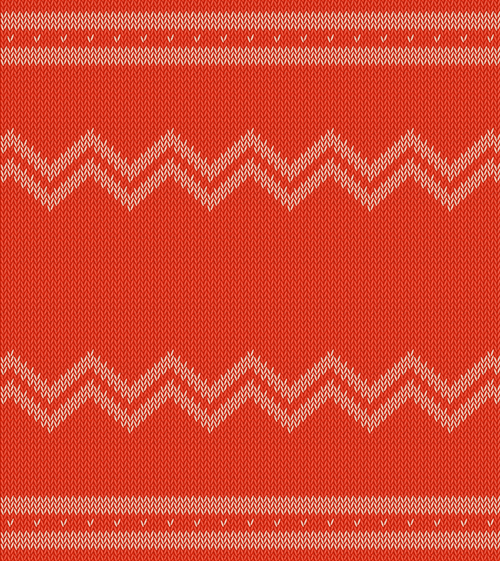 Orange red knitted pattern vector background - Vector ...