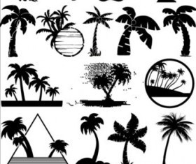 Palm tree silhouetter vector 01