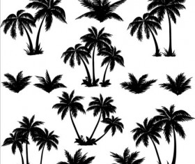 Palm tree silhouetter vector 02