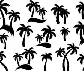 Palm tree silhouetter vector 03
