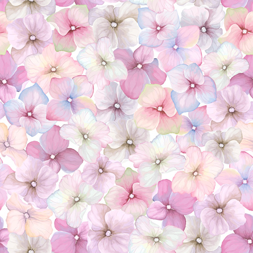 Seamless pink floral pattern - photo#8