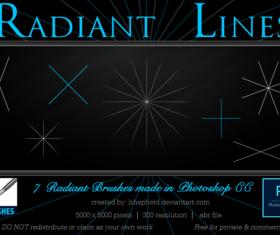 Radiant Lines photoshop brushes