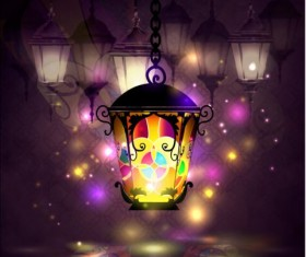 Ramadan kareem with beautiful lantern background 01