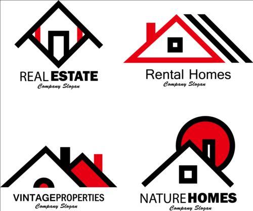 Real estate company creative logos vector logo