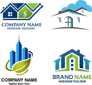 Real Estate Company Creative Logos Vector 03