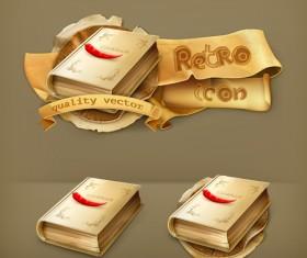 Retro cookbook labels vector