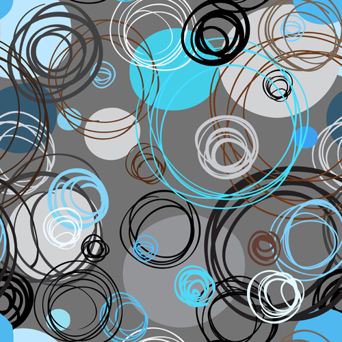 Round lines pattern vector 02