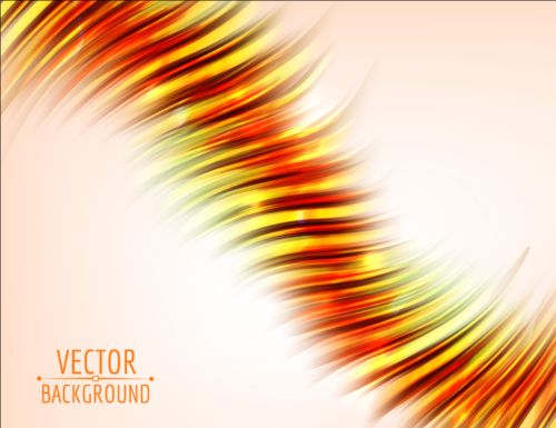 Shining abstract curves background illustration vector 07