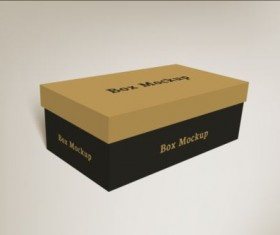Shoes product packaging box vector design 01