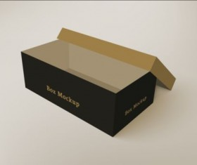 Shoes product packaging box vector design 02
