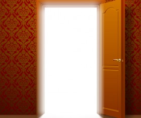 Suite door design vector 01