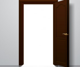 Suite door design vector 02