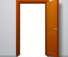 Suite door design vector 03