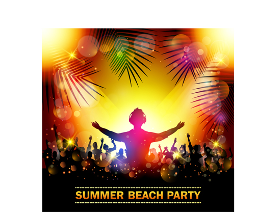 summer beach party background vectors 03 vector
