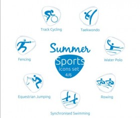 Summer sports icons creative design 04