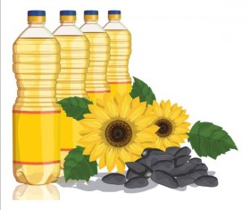 Sunflower seed oil vector material 04