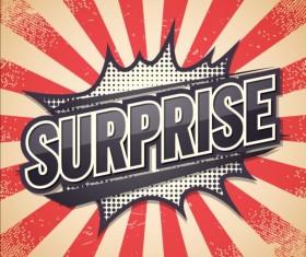 Surprise comic speech bubble vector