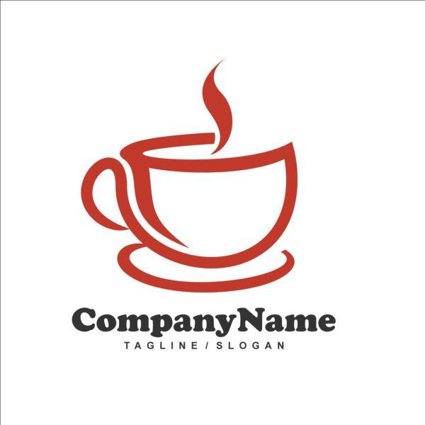 Tea red logos design vector