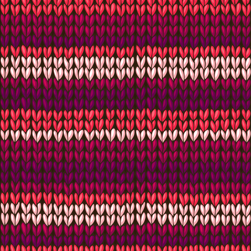 Knitting Pattern Vector Download : Textures knitted pattern set vector 09 - Vector Pattern ...