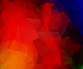 Triangles with geometric polygon vector background 07
