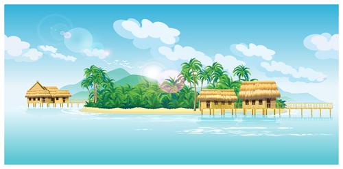 vector scenery tropical - photo #20