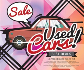 Used Cars Sale poster vector