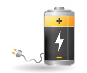Vector battery charging icons design 02