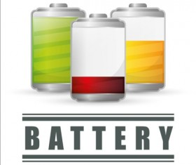 Vector battery charging icons design 03
