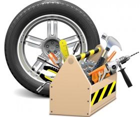 Vector construction tools illustration set 02