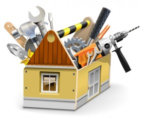 Vector construction tools illustration set 03