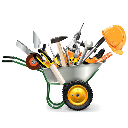 Vector construction tools illustration set 04 - Vector ...