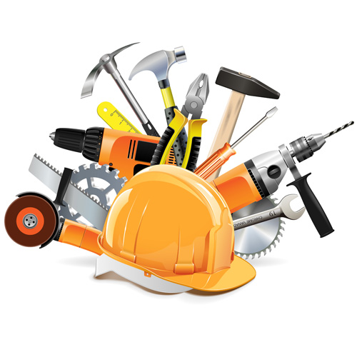 Vector Construction Tools Illustration Set 05 Vector