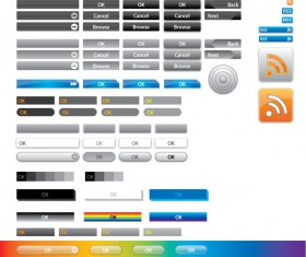 Vector web buttons set