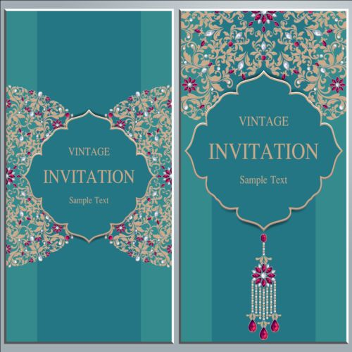 Vintage invitation cards with jewelry decor vector 05 free download vintage invitation cards with jewelry decor vector 05 stopboris Choice Image