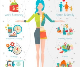 Work and life balance vector template 02