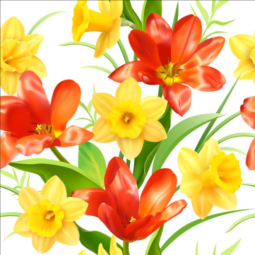 Yellow with red flower pattern vector free download yellow with red flower pattern vector mightylinksfo