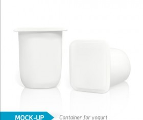Yogurt carton package vectors