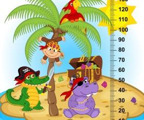 baby height measure cartoon styles vector 07