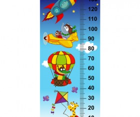 baby height measure cartoon styles vector 08