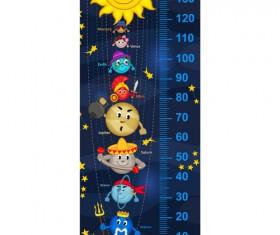 baby height measure cartoon styles vector 09