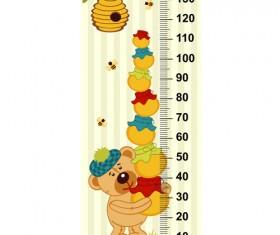 baby height measure cartoon styles vector 10