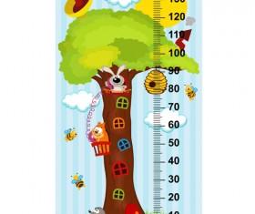 baby height measure cartoon styles vector 11
