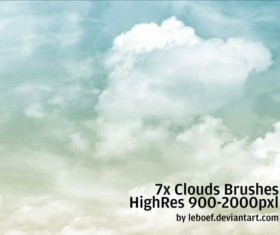 7 Kind Cloud Photoshop Brushes