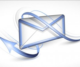 Abstract arrow with email iocn vector